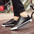 2017 Spring Men Skate Shoes Fashion Casual PU Leather Mens Flat Sport Jogging Shoes Tide Lace Up Sneakers Zapatos Hombre O2273