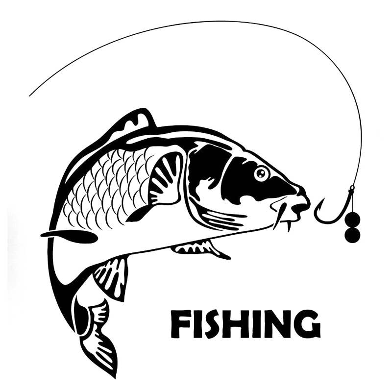 Fish fishing fashion car styling motorcycle for Fishing car stickers