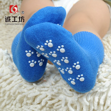 The spring and autumn new socks non slip bottom baby socks Tricholoma 0-6 years old Cheng socks wholesale brand workshop