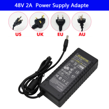 LED Driver AC 100-240V to DC 48V 2A strip light Power Supply Charger Adapter Transformer 220V 48V 96W Converter with power cord цена и фото