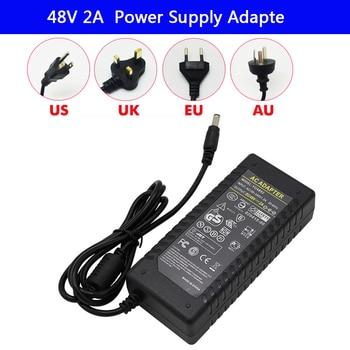LED Driver AC 100-240V to DC 48V 2A strip light Power Supply Charger Adapter Transformer 220V 48V 96W Converter with power cord