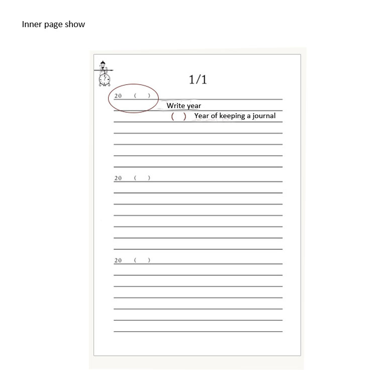 Best Deal B8e1 Thick 3 Years Wirebound Diary Best For Office