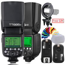 Godox TT685C Flash TTL HSS Camera Flash speedlite+X1T-N Trigger OR Pixel M8 2.4G Wireles Flash Speedlite+Flash Trigger For Nikon new meike mk mt24 wireless dual flash speedlite trigger macro photography for nikon camera dual flash speedlite trigger