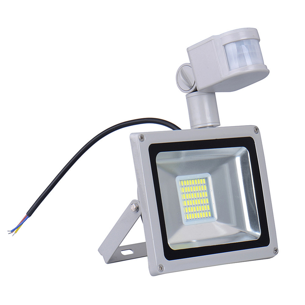 Kaigelin Led Sensor Floodlight 30w 220v 60 Leds Smd 5730 Infrared Sensor Flood Lamp Outdoor Lighting Led Induction Floodlights