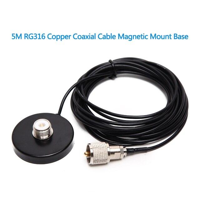 ABBREE штатив с магнитной основой с коаксиальным кабелем 5 м/16,4 фута для автомобильной Мобильной Антенны