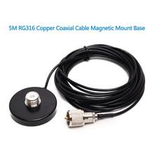 ABBREE HH N2RS Mount Basis mit 5M/16,4 ft Koaxialkabel für Auto Mobile Radio Antenne Stabile Mobile radio Montieren
