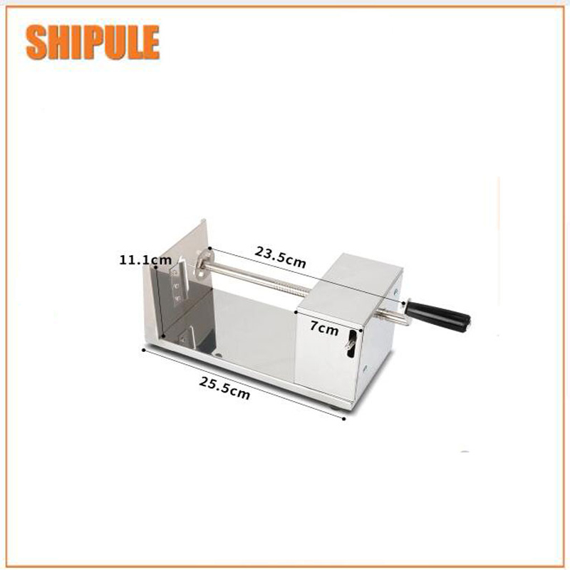 Full automatic electric operate potato tower sprial cutter/potato tower sprial cutting machine new design sprial cymbal 14cymbal