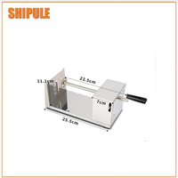 Fully automatic electric operate potato tower spiral cutter/potato tower spiral cutting machine