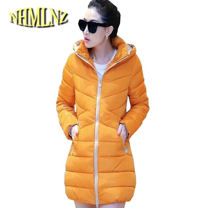 New Korean Style Fashion Women Winter Coat Slim Big yards Thickening Cotton  Down jacket Elegant Hooded Super Warm Coat G1982 332724d0b