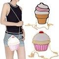 Смешные Мороженое Торт Сумка Малый Crossbody Сумки Для Женщин Милые Кошелек Сумки Цепь Сумка Мешок Партии