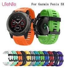 купить 26mm silicone soft band bracelet wrist strap for Garmin Fenix 5X GPS Smart Watch band Strap Replacement wristband accessories по цене 100.3 рублей