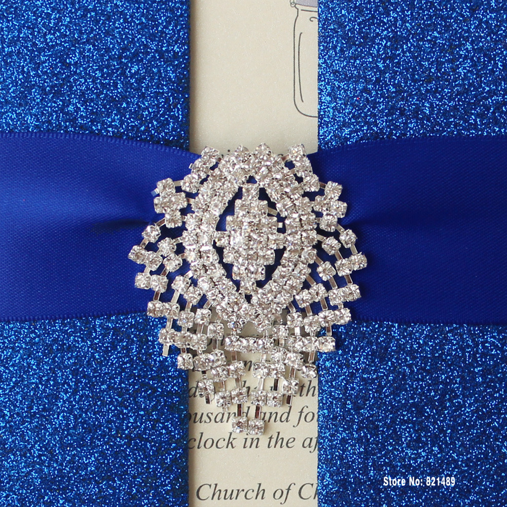 Aliexpress Royal Blue Wedding Invitation Shimmer Card For Pack Of 30 From Reliable Suppliers