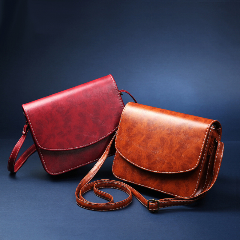 New 2017 fashion women bags solid color small adjustable shoulder strap thread cover type woman messenger crossbody bag