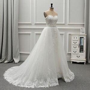 Image 2 - Женское винтажное свадебное платье Fansmile, роскошное кружевное платье 2 в 1, бальное платье принцессы, модель 2020 года, одежда для невесты, платье для свадьбы, 2019