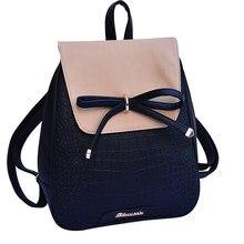 fc81502fb2c9 Мини-рюкзак общага Для женщин школьные сумки для девочек-подростков Kawaii  Лук рюкзак небольшой
