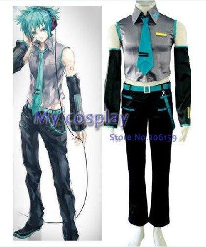 Vocaloid Hatsune Mikuo Men's Cosplay Costume For Halloween ...
