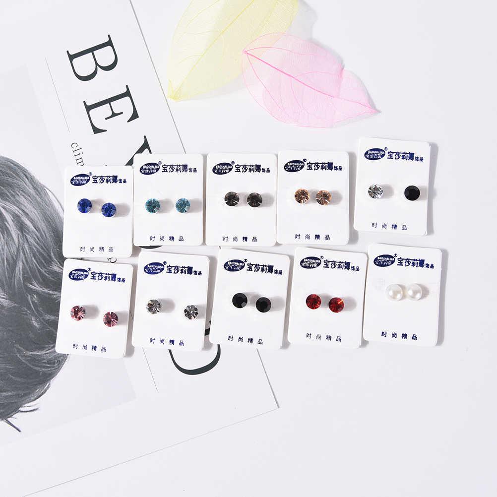 1 ペアバイオ磁気治療の減量イヤリングマグネットで耳視力痩身健康ツボを刺激スタッドのイヤリング