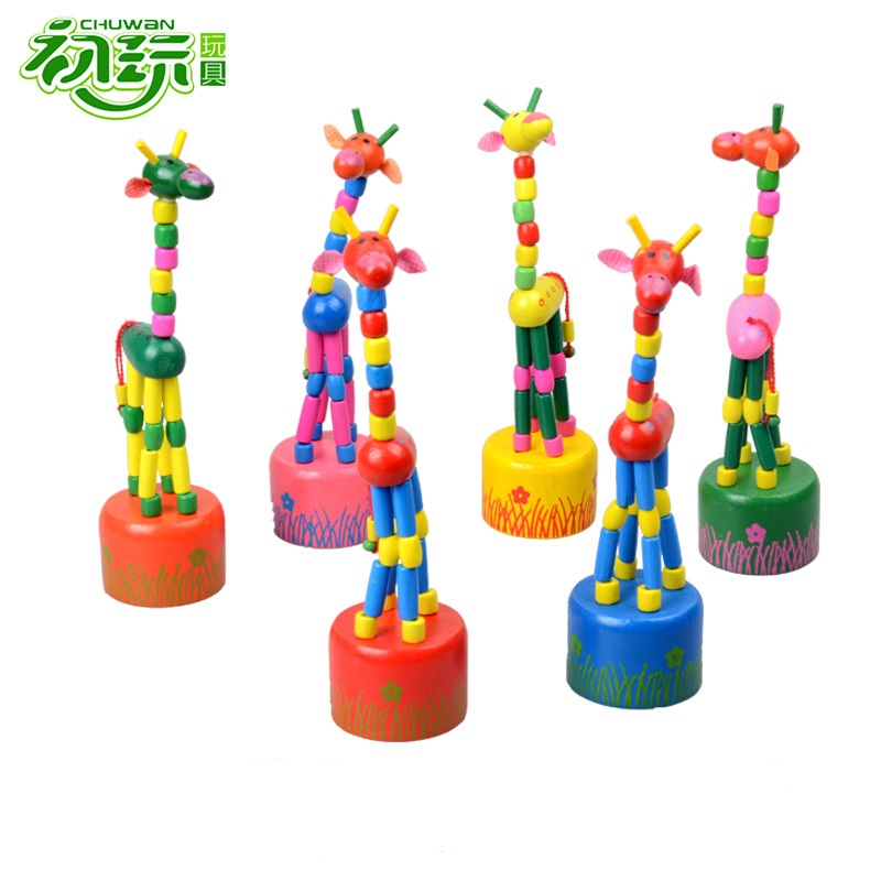 Wooden Baby Swing Dancing Giraffe brinquedos Funny juguetes games Rocking Animals kids toys for children action