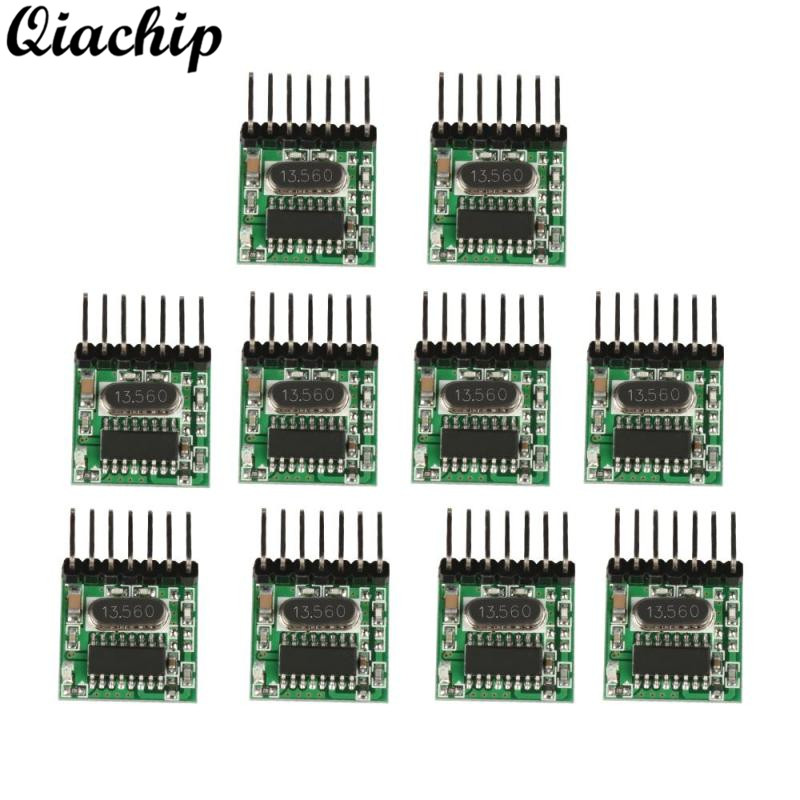 QIACHIP 10pcs 433 MHz Wireless RF Transmitter Learning Code 1527 Encoding 433Mhz Remote Control Switch For Arduino Module Kit