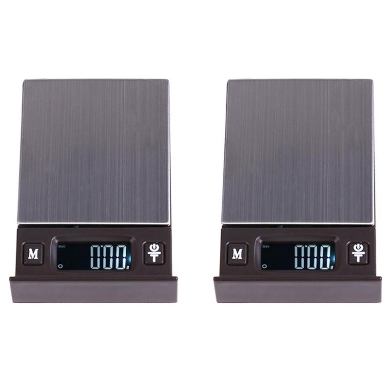 500g x 0.01g Portable Mini Electronic LED Digital Scale Pocket Case Postal Kitchen Jewelry Weight Balance Digital Scale 1 8 lcd pocket digital scale black 500g 0 01g 2 x aaa