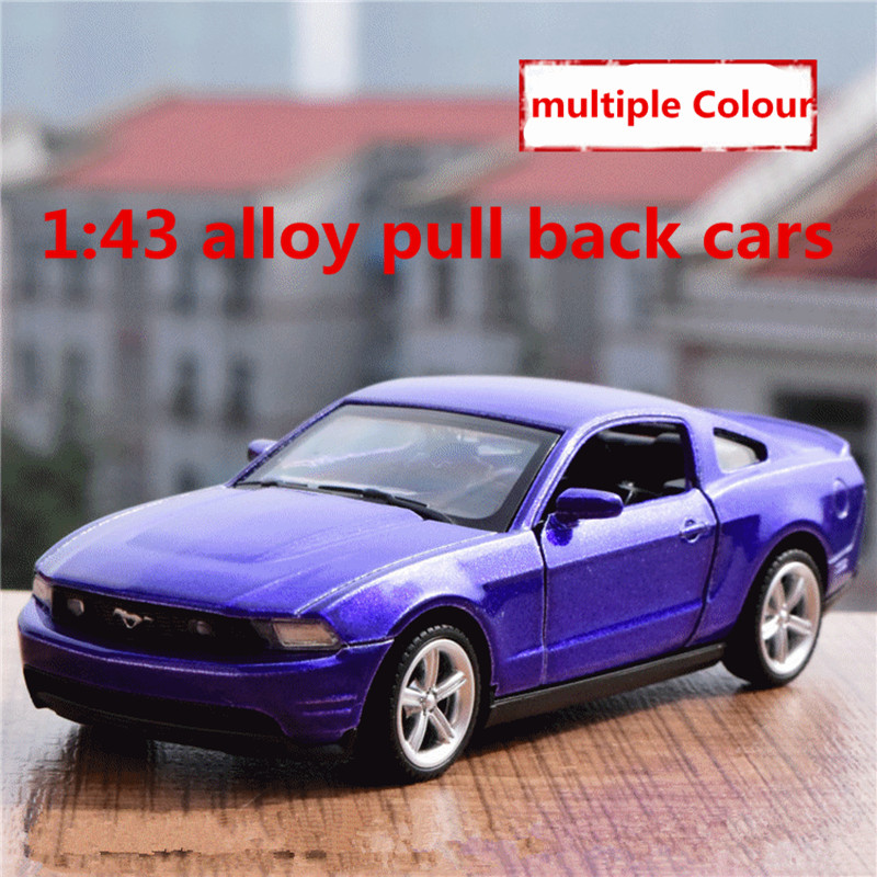 <font><b>1:43</b></font> alloy pull back cars,high simulation <font><b>ford</b></font> mustang <font><b>model</b></font>,2 open door,matte paint,metal diecasts,toy vehicles,free shipping image