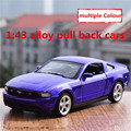 1:43 alloy pull back cars,high simulation ford mustang  model,2 open door,matte paint,metal diecasts,toy vehicles,free shipping