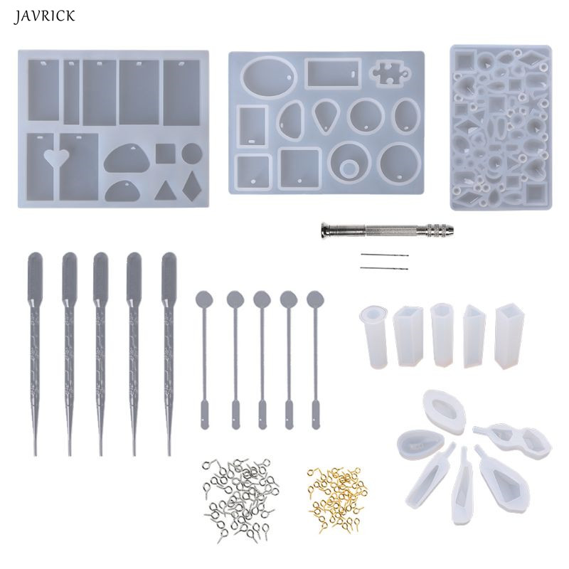 Resin Silicone Mold Jewelry Epoxy Mould Tool Set DIY Craftsmanship Pendant Bracelet Earrings Diamond Mold Decoration Handmade