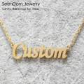 Romantic Gift 316L Stainless Steel Custom  Personalized Name Choker Gold Plated Handwriting Signature Customized Necklace