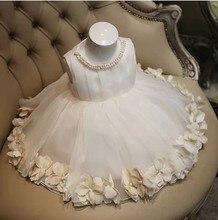 Детская одежда девушки принцесса белый цветок девочка платье вечернее платье вечернее платье