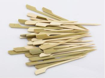 Disposable 10.5cm Natural Bamboo Picks Skewers for BBQ Snack Cocktail Grill Kebab Barbeque Sticks Party Restaurant SN1399