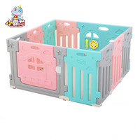 Indoor Baby Playpens Kids Activity Gear HDPE Environmental Protection Safety Play Yard Baby Home Fence