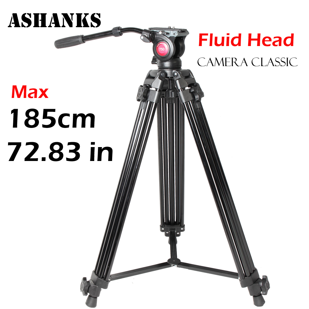 ASHANKS A750 1 85M Aluminum Foldable Professional Photographic Tripod Fluid head for Digital SLR DSLR Camera