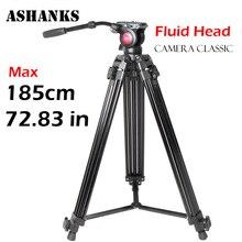ASHANKS A750 1.85 М Алюминиевый Складной Профессиональный Фотографический Штатив и головки для Цифровой ЗЕРКАЛЬНОЙ Камеры DSLR