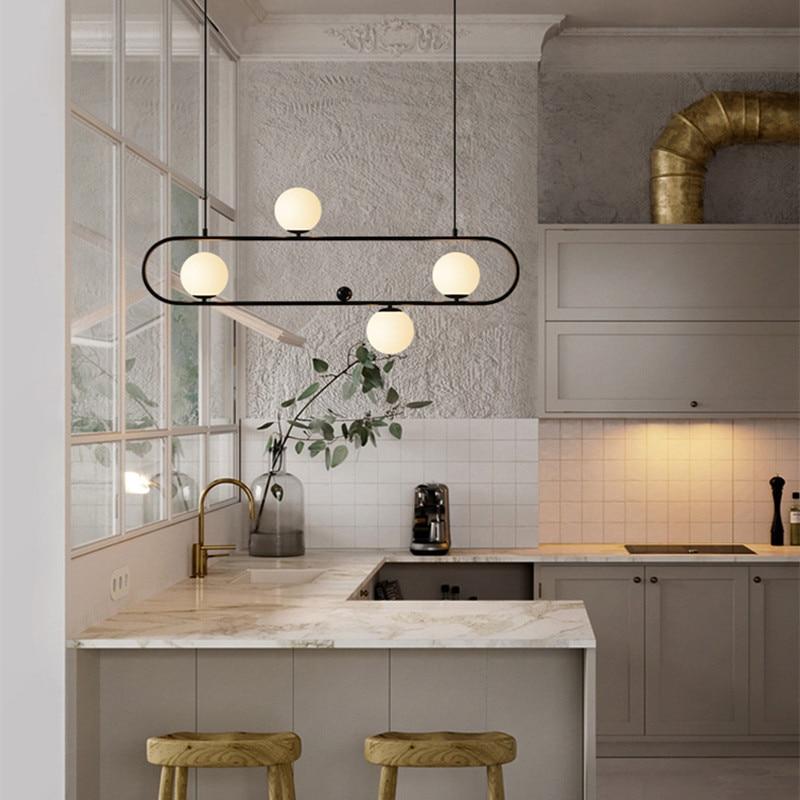 Nordique Designer Loft Café pendentif led Lumière Rétro Industrielle Géométrie Creative À Manger Salon suspensions lumineuses Livraison Gratuite