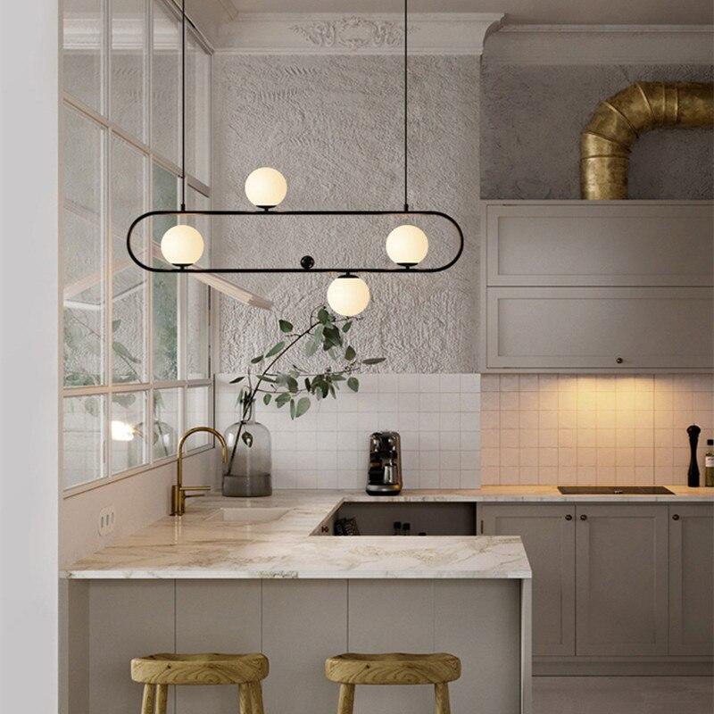 Nordique Loft Design Café Conduit Pendentif Lumière Rétro Industriel Géométrie Créative Salle à manger lampes Suspendues Livraison Gratuite