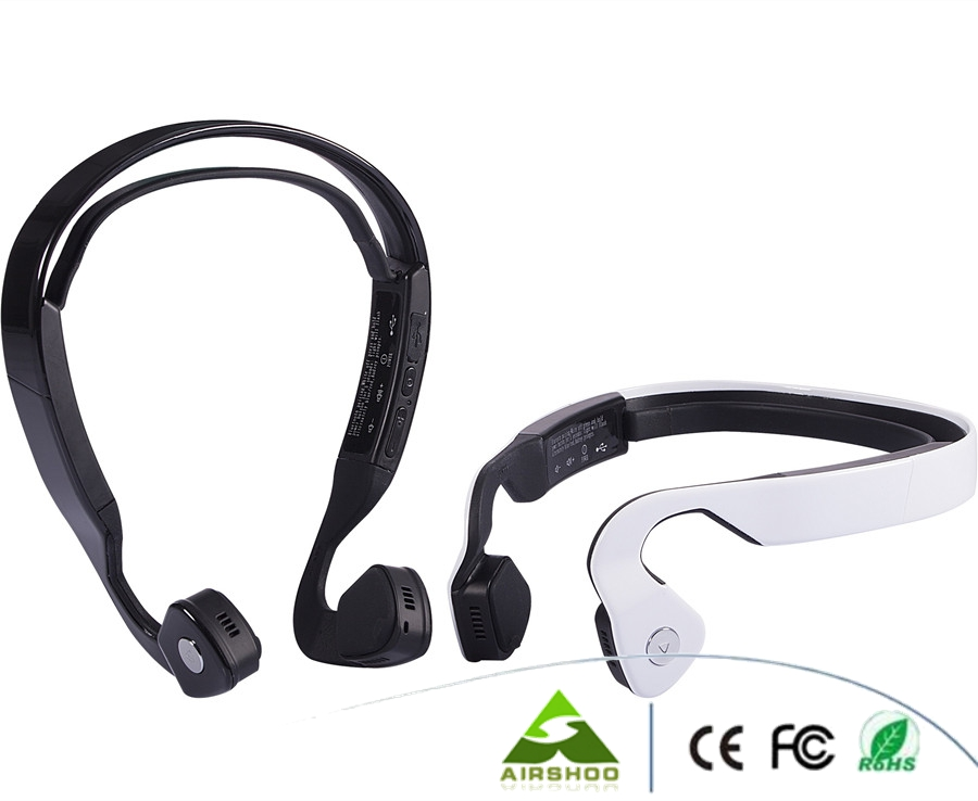 Wholesale 2 Colors Wireless Bluetooth Headset Bone Conduction Outdoor Sports Running Headphone Hands-free with Mic Earphones image