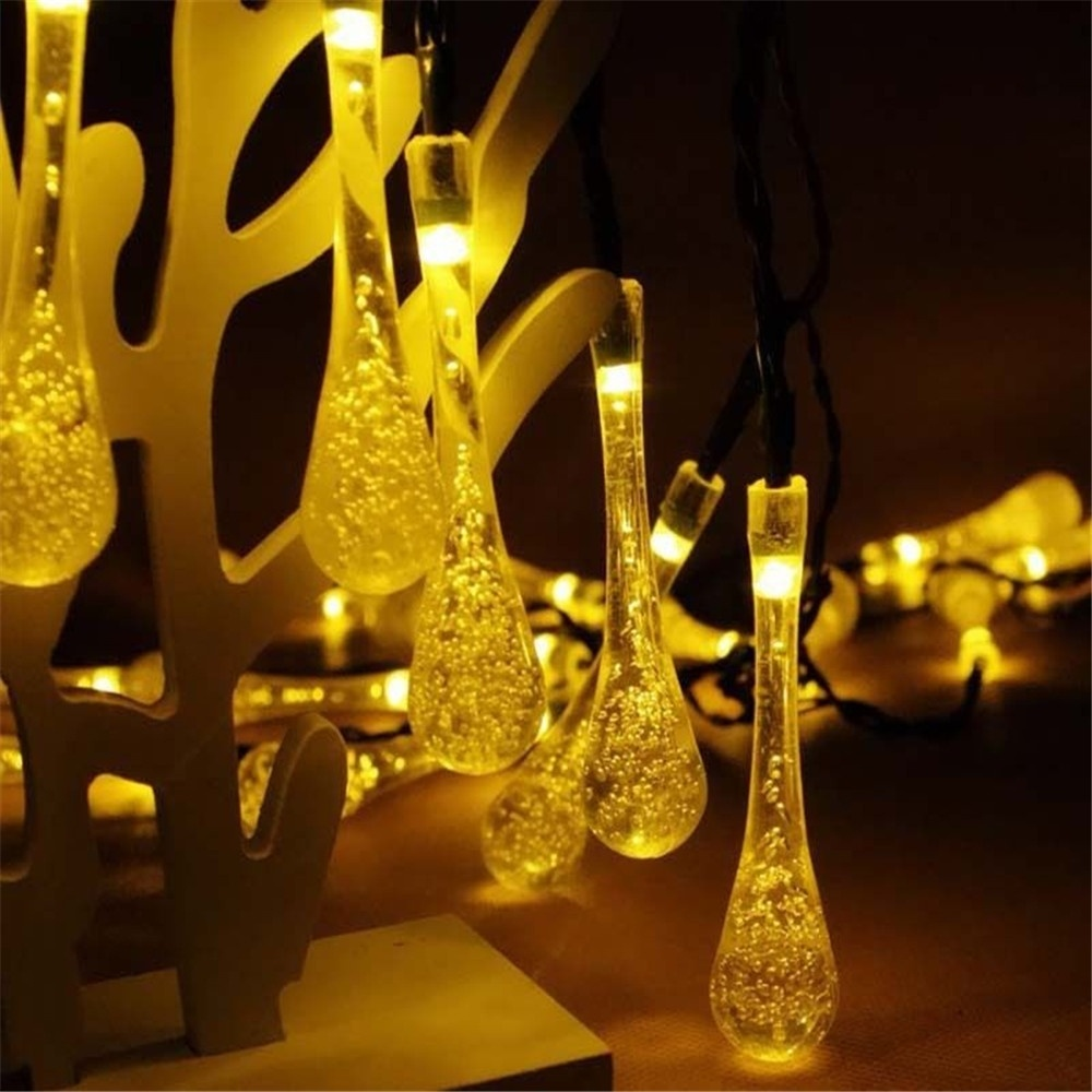 aliexpresscom buy solar powered 30led string light water drop covers christmas tree landscape outdoor garden decoration lamp from reliable garden