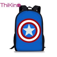 Thikin Avengers Marvel Hero Students School Bag for Boys Teenagers Backpack Travel Package Shopping Shoulder Women Mochila