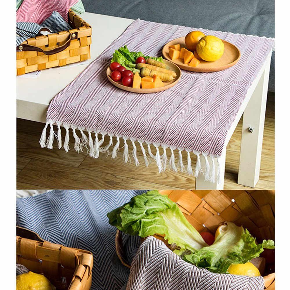 100% хлопок лен кисточкой дизайн столовые салфетки натуральный квадратный кухонное полотенце стол блюдо ткань идеальные события и обычные салфетки