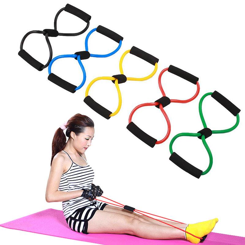 8 Shaped Elastic Tension Durable Rope Chest Expander Yoga Pis