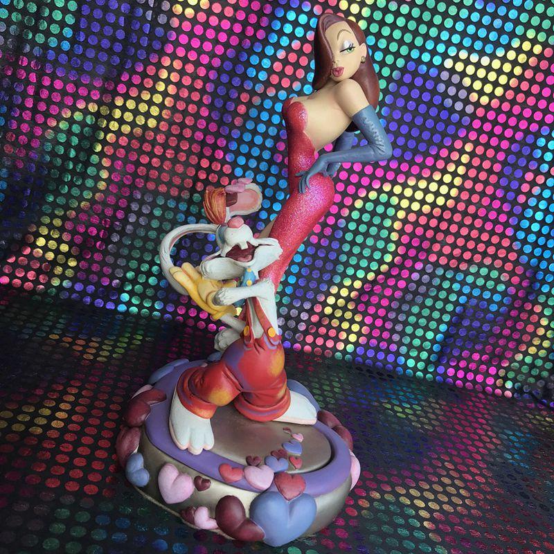 Оригинальный набор для гаража, Классическая Игрушка, 27 см, в рамке, с Роже, Кроликом, фильмы, сцена, экшн фигурка, Коллекционная модель, игрушк