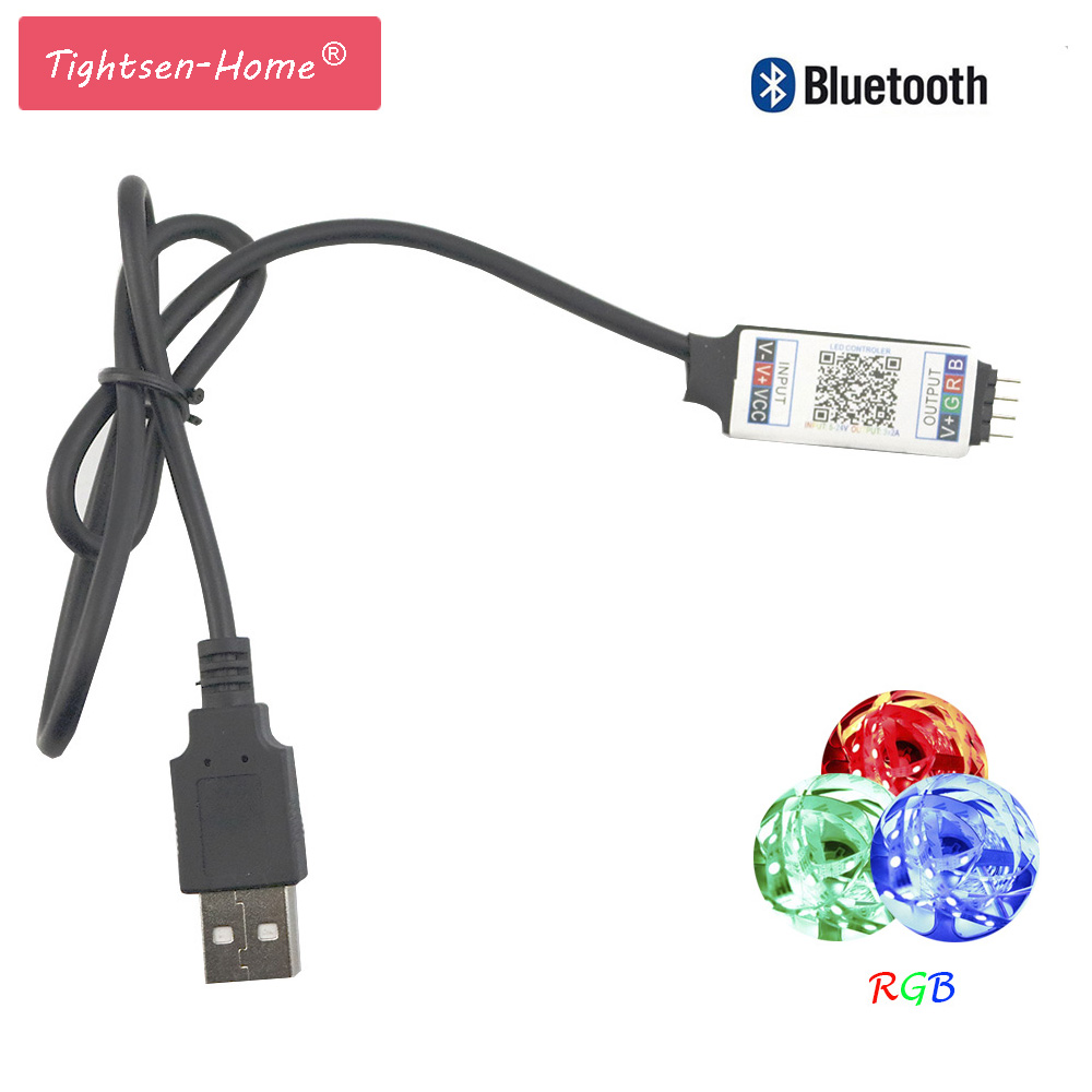 USB Bluetooth LED Controller RGB Controller DC 5V Mini Music Controller Wireless Android IOS App for RGB RGBW LED Strip Light image