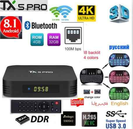 Tanix TX5 PRO 4GB 32GB 2.4G WIFI 100M LAN Bluetooth Android 8.1 TV Box Amlogic S905X2 quad Core 4K HD Smart Box TX5 MAX TANIX