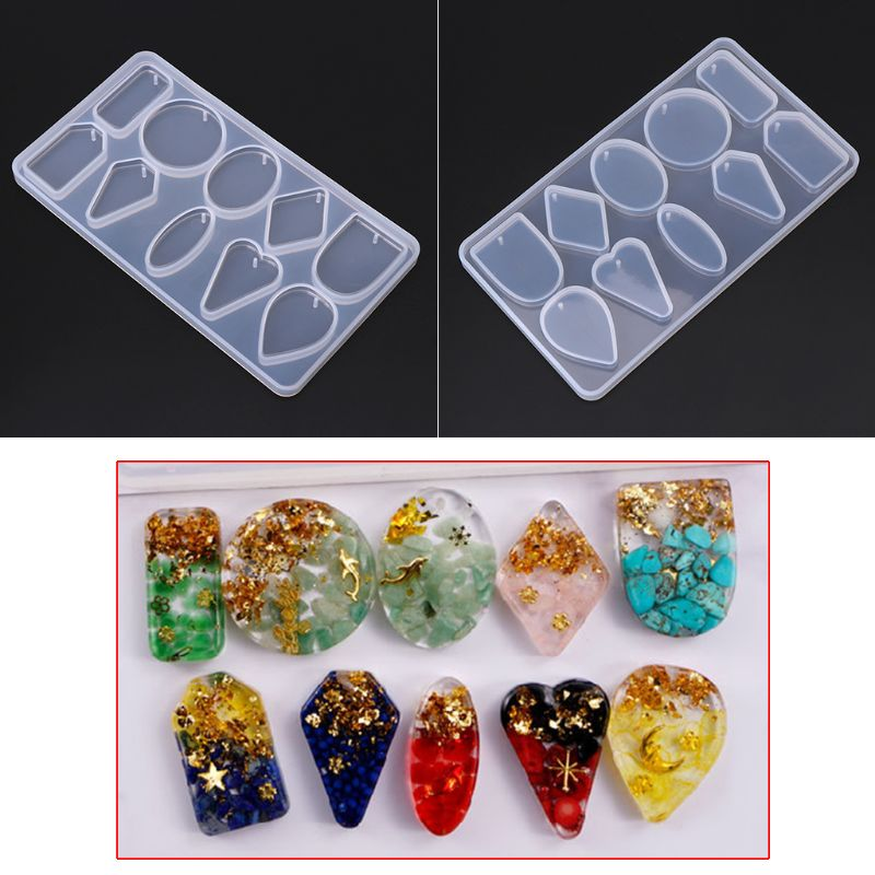 1 Set UV Crystal Epoxy Pendant Mould Bear Fishtail Silicone Mold DIY Handmade Jewelry Making Tools Jewelry Accessories in Jewelry Tools Equipments from Jewelry Accessories
