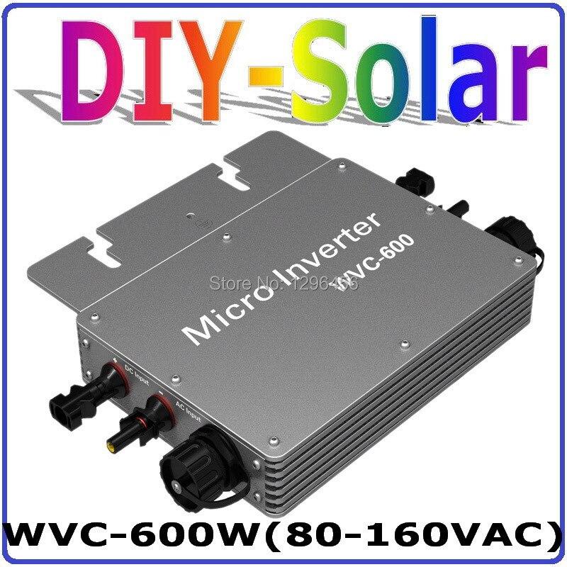 цена на 600w New Micro Grid Tie Inverter For Solar Home System MPPT Function DC 36V AC 120V Pure Sine Wave Communication Inverter
