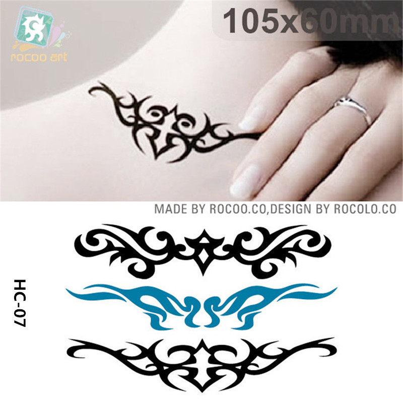 Body Art Waterproof Temporary Tattoos Paper For Men And Women Personality 3d Totem Design Small Tattoo Sticker Wholesale HC1007