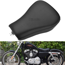BJGLOBAL Front Driver Solo Seat Cushion Pad For Harley Sportster XL 1200 883 Forty Eight XL1200X Seventy Two XL1200V tank cover panel pad bib bra w pouch for harley sportster forty eight 883 1200 forty eight iron 883 seventy two