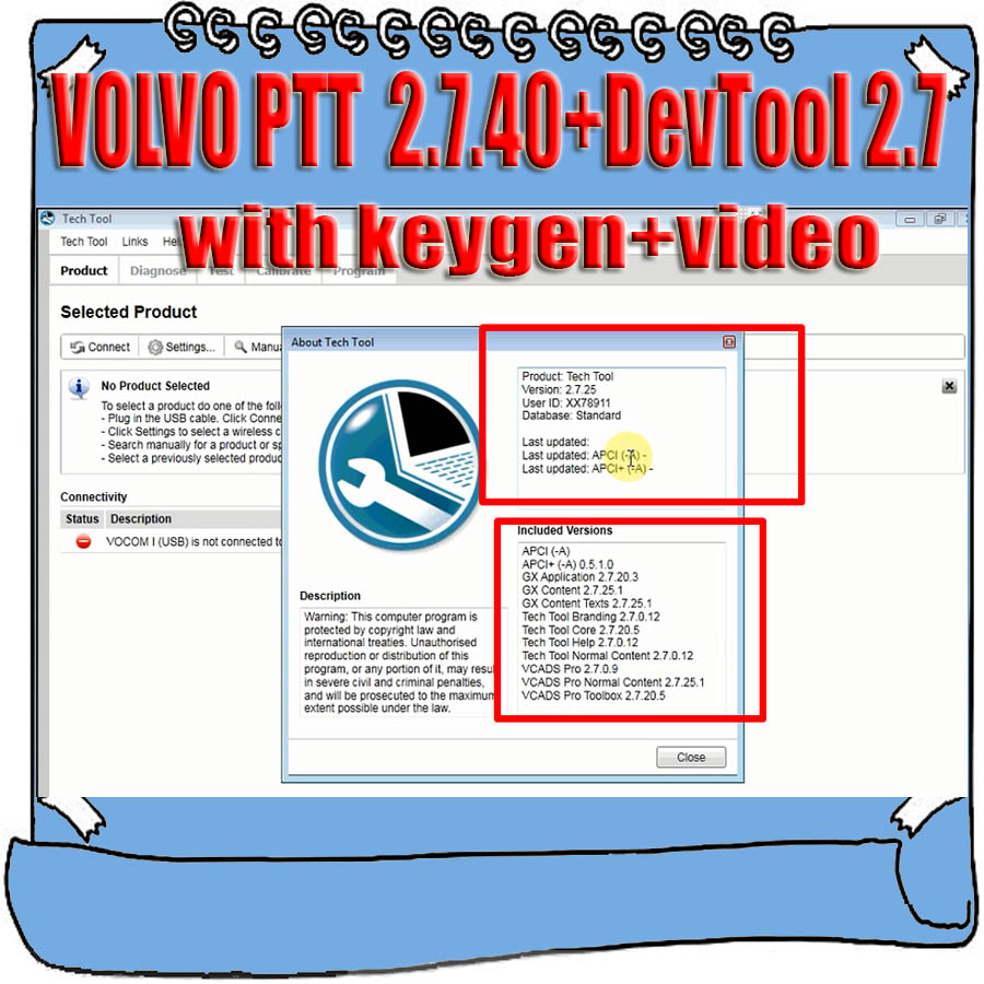 2019 Hot Premium Tech Tool PTT V2 7 40 VCADS Development Devtool Plus 2 7 with