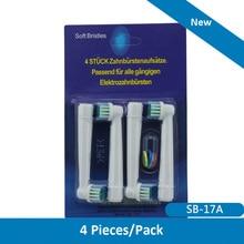 16 шт. для Braun Oral B электрическая зубная щетка главы Замена 4 цвета Vitality Precision 4 упак./лот(China (Mainland))