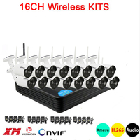 5mp/4mp/1080p 3 array Infrared led Xmeye APP Waterproof HD H.265 25fps 16CH 16Channel WIFI Wireless IP Camera kits Free Shipping